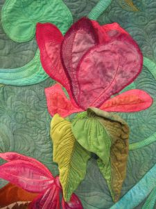 Detail Blume aus Wandbehang